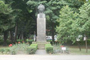 The Statue of Mihai Eminescu in Alei Park, Giurgiu