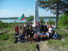 The monument of Panayot Hitov detachment – close to Dunavets, Tutrakan Region