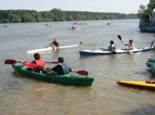 March on the water for Water Day on Danube